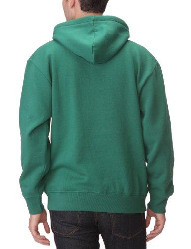 DC Shoes Star-Felpa da uomo, con cappuccio da 1 Verde - Evergreen