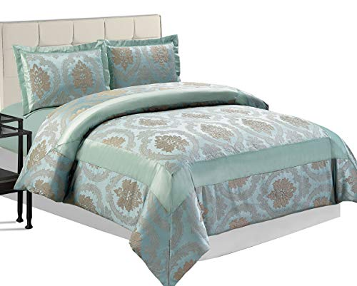 Jacquard 220 g/m² gesteppte Tagesdecken-Set und 2 Kissenbezüge, Betty Nutmeg, King (240 x 260 CM)
