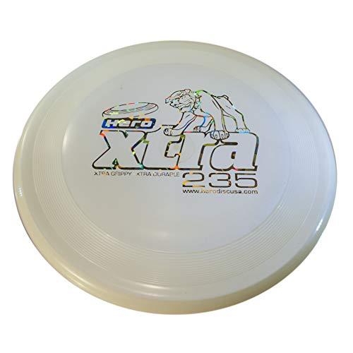 Hero Xtra 235 Distance Frisbee para Perros y Disc Dog (Blanco)