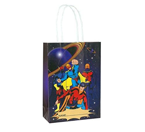 t 24 Super Hero Party-Taschen mit Griffen - Party Favor Filler ()