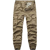 AYG Mens Camo Cargo Trousers Combat Pants Work Trousers Casual Military 28-38