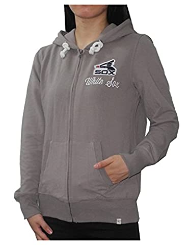 MLB Chicago White Sox Womens Athletic Zip-Up Hoodie / Jacket L Grey
