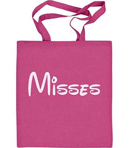 Verspieltes Geschenk für die Misses - Paar Motiv Jutebeutel Baumwolltasche Rosa