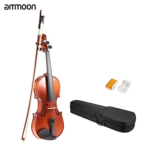 Ammoon Violin Geigen Fiddle 1/4 Holz antike Violine Geige Matte Finish Fichte Gesicht Vollpappe mit Hard Case Bow Rosin