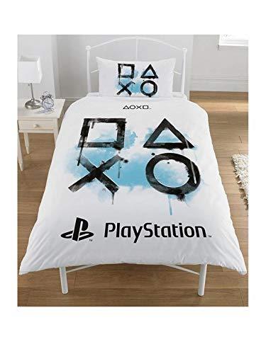 Sony Playstation - Juego de Funda nórdica y Funda de Almohada (polialgodón),...