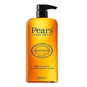 Pears Pure & Gentle Shower Gel, Body Wash with Glycerine and Natural Oils, 100% Soap-Free and Dermatologically Tested, Imported, 500 ml