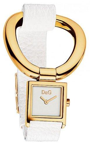 D&G Dolce&Gabbana d&g nikki - Reloj analógico de mujer de cuarzo con correa de piel blanca - sumergible a 30 metros
