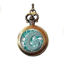 Collar para Reloj de Bolsillo Diseño Espiral