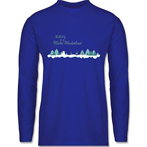 Weihnachten & Silvester - Walking in a Winter Wonderland Schnee - Longsleeve / langärmeliges T-Shirt für Herren Royalblau