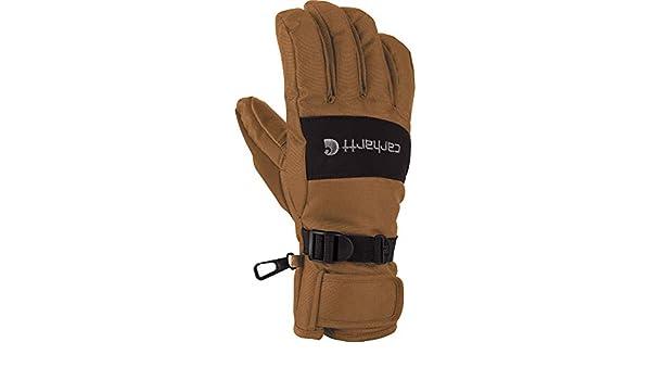 Carhartt Mens Waterproof Windproof Insulated Work Glove XX-Large Brown//Black