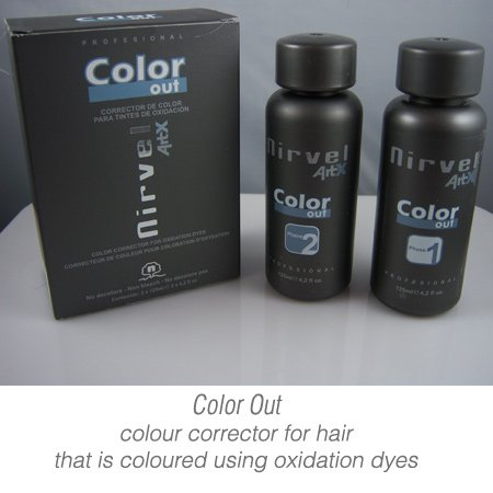 Color Out - Hair colour corrector ( remover ) for oxidation dyes by ArtX (Oxidation Remover)