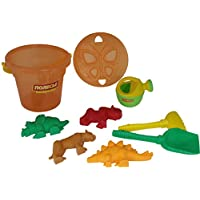Polesie 35639 No.320, Butterfly Sieve, Shovel No. 6, Rake No. 6, Sand Forms (Tiger with Mammoth No.1 with Dinosaur No.2), Small Watering Can No. 4-Sets: Bucket Maxi, Multi Colour