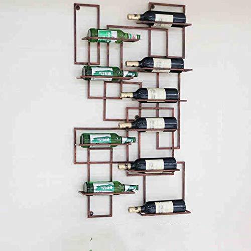 BinLZ Weinregale Familie Home Dekorationen Eisen Weinschrank Dekoration Moderne Einfachheit Wohnzimmer, um Jeden Raum zu Erfüllen, Bronze (Akzent Wohnzimmer Modern Tabellen)
