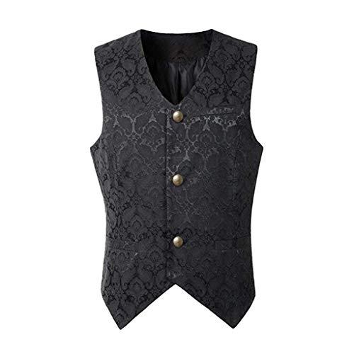 Writtian Herren Frack Mantel Steampunk Gothic Jacke Retro Viktorianischen Cosplay Kostüm Smoking Jacke Uniform Mittelalter Kleidung Weste Jacke Waistcoat - Gangster Anzug Lang Jacke Für Erwachsene Kostüm