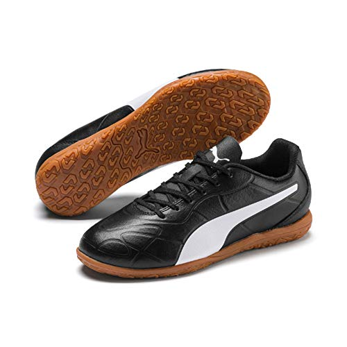 Puma Monarch IT Jr, Chaussures de Futsal Mixte Enfant, NoirPuma Black-Puma White,1 UK (33 EU)