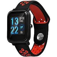 zolimx correas de Reloj Inteligente Ligero Ventilar Silicona Wirstband Pulsera de Muñequeras para Huami Amazfit Bip Youth Smartwatch (Rojo)