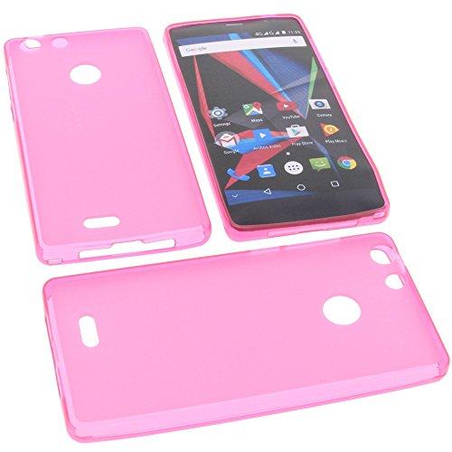foto-kontor Tasche für Archos 55 Diamond Selfie 55 Diamond Selfie Lite Gummi TPU Schutz Handytasche pink