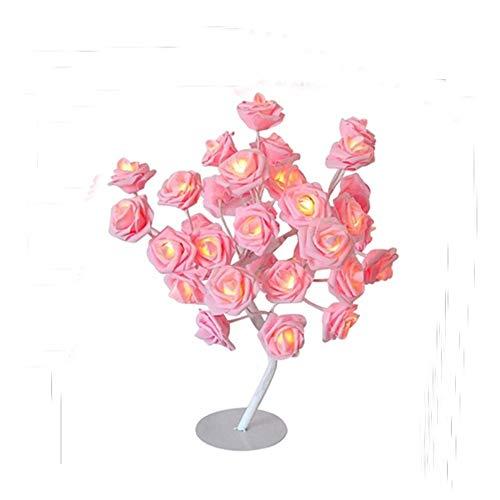 Homclo Led Rose Nachtlampe Blumen Nachtlicht dekoration Nachtlampe Stehlampe Stimmungslicht nachtlicht für Schlafzimmer, Kinderzimmer