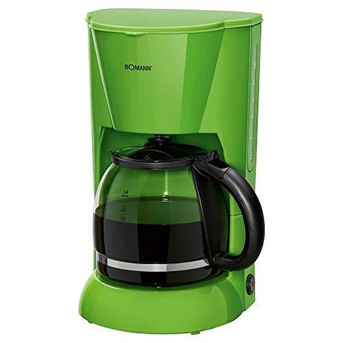 Bomann KA 183 CB Filterkaffeemaschine für 12-14 Tassen, Nachtropfsicherung, Warmhalteplatte, Abschaltautomatik, Wasserstandsanzeige, Grün