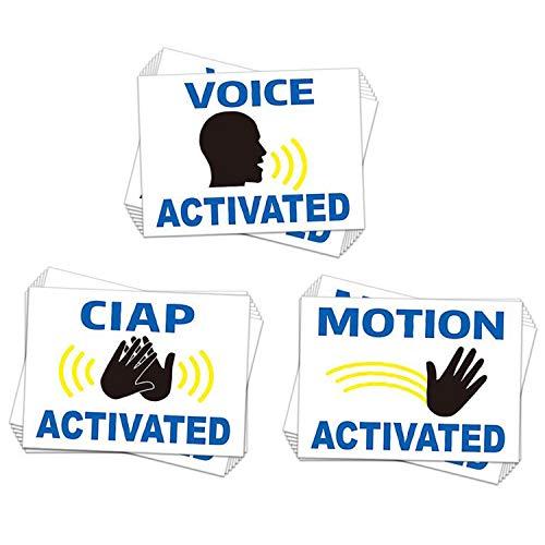 Prank Stickers Lustige praktische Witz-Aufkleber 60 Stück - Fake Voice Motion & Clap Activated Sign Tags - Praktische lustige Schilder 2 x 2.15