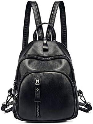 Qzny Sac à Dos pour Femme, Sac Sac Sac à Dos en Cuir Souple   Backpack Sac de Mode pour Dames Sac à Dos Double Usage en PU à Grande capacité (Couleur : Une, Taille : 26  19  10cm) | Vente Chaude  ad806e