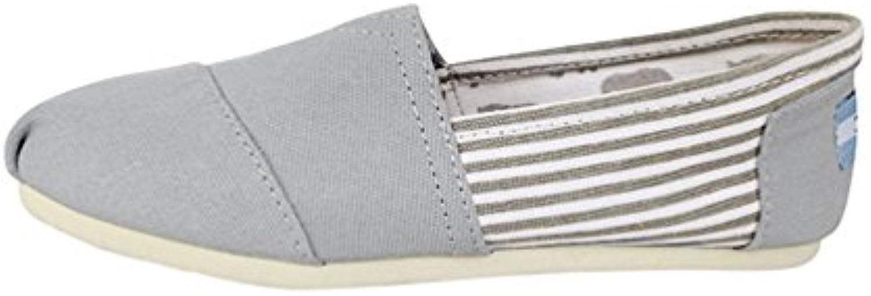 Dooxi Unisex Erwachsene Liebhaber Freizeit Streifen Loafers Comfort Espadrilles Mode Slip on Flach Freizeitschuhe