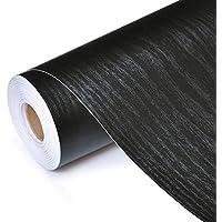 ASDFGH Etiqueta engomada del PVC Autoadhesivo Resistente al Agua Madera Negro del Papel Pintado Rollo Muebles Puerta del gabinete de Escritorio Armario Pared Papel de Contacto (Dimensions : 60cmx3m)