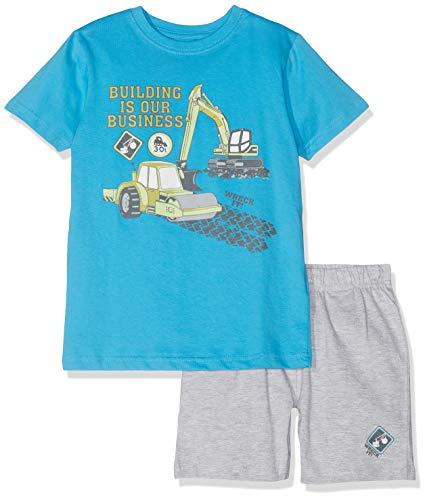 Blue Seven Jungen Set: T-Shirt + Shorts Bekleidungsset, Türkis 646, (Herstellergröße: 110) Jungen Shorts Set