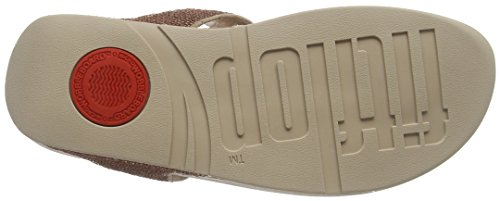 FitFlop Damen Electra Micro Toe-Post Sandalen Pink (Rose Gold UK)