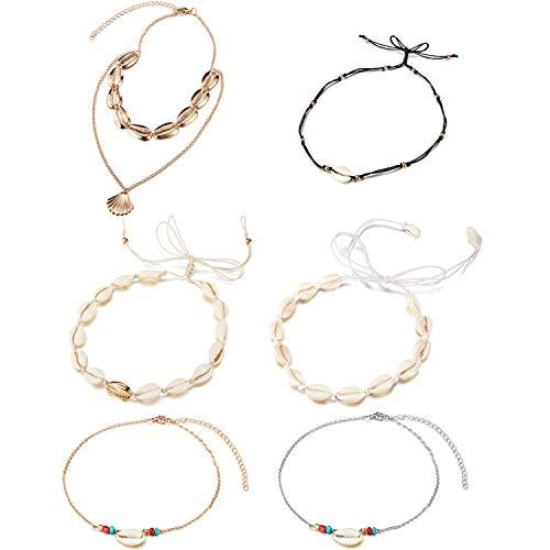 6 Stück Shell Choker Halskette Handgemachte Hawaii Beach Choker Verstellbare Halskette Für Damen Mädchen Lieferung