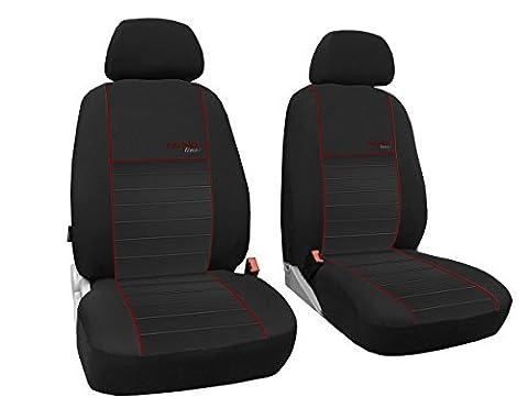 Vordersitzbezüge 1+1, Sitzbezüge passend für SEAT IBIZA - DESIGN TREND-LINE. In diesem Angebot DUNKELROT (In 6 Farben bei anderen Angeboten erhältlich)