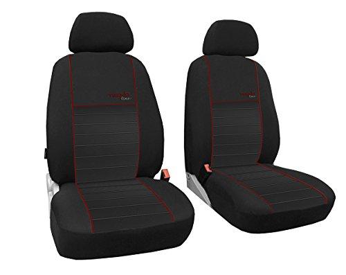 Preisvergleich Produktbild Vordersitzbezüge 1+1, Sitzbezüge passend für VW T3 - DESIGN TREND-LINE. In diesem Angebot DUNKELROT (In 6 Farben bei anderen Angeboten erhältlich)