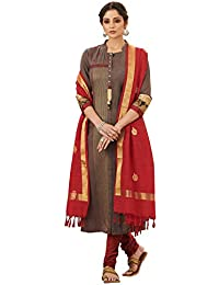 Payal Grey Modal Silk Embroidered Salwar Suit With Dupatta