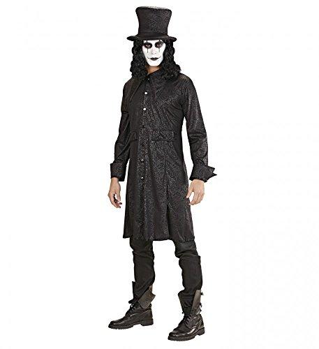 shoperama Herren-Kostüm Raven - Hut und Mantel - dunkler Lord Hutmacher Magier Vampir Halloween, ()