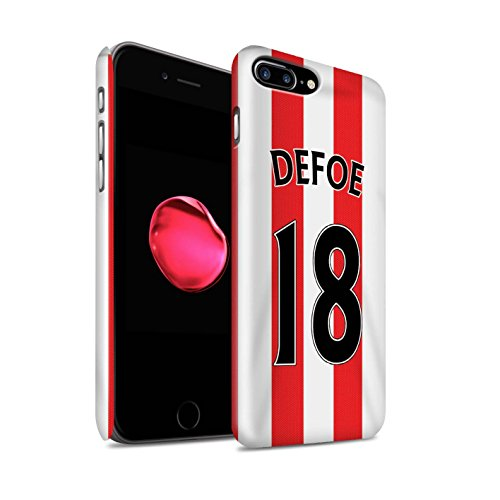 Officiel Sunderland AFC Coque / Clipser Brillant Etui pour Apple iPhone 7 Plus / Matthews Design / SAFC Maillot Domicile 15/16 Collection Defoe