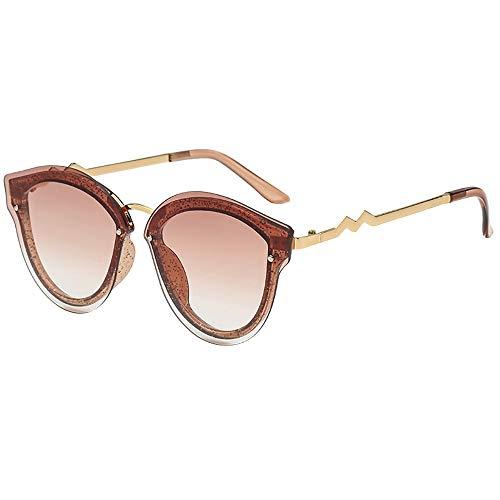 WUDUBE Neue Sonnenbrille, ungleichmäßige Persönlichkeit, runde Unisex-Retro-Retro-Brille