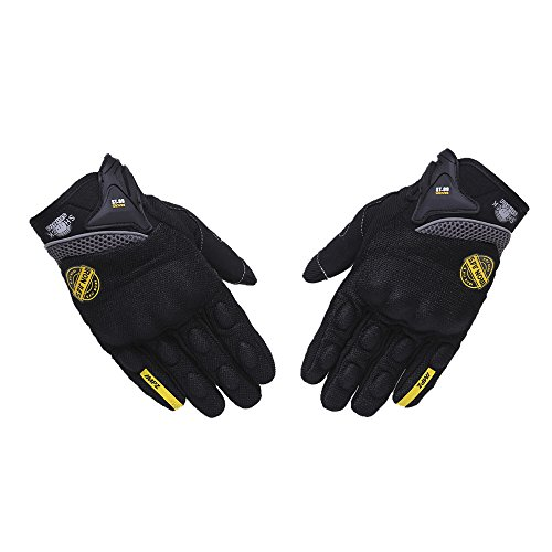 Guanti da moto per guanti da touch screen per uomo donna, traspiranti, da corsa fuoristrada, guanti da moto, protezioni per le dita, guanti da gu