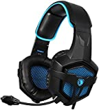 [2016 SADES SA-807 New Released Multi-Platform?Xbox one PS4 Gaming Headset ], Gaming Headsets Headphones For Xbox one PS4 PC Laptop Mac iPad iPod (Black&Blue)