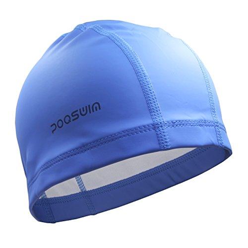 poqswim-lycra-swim-cap-with-pu-coat-swim-hat-can-fit-long-hair-swim-capblue