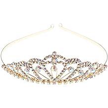 sharplace diadmes couronne support voile bijoux de cheveux tiare paillettes brillant bandeau strass - Couronne Princesse Adulte