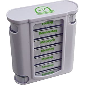 Medi-Inn Wochendispenser 7 Tage Tablettenbox N11484-w, weiß