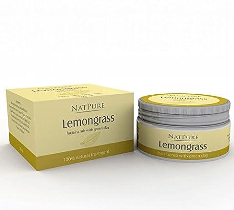 NatPure Lemongrass facial scrub 100% Natural exfoliant pour le visage