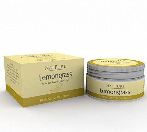 NatPure Lemongrass facial scrub 100% Naturkosmetik Citrus natürliches Gesichtspeeling 100ml