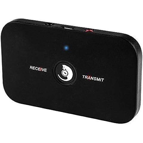 AGPTek Bluetooth Receptor Transmisor portátil 2 en 1 adaptador de Audio Inalámbrico estéreo salida de 3,5 mm para auriculares, TV, ordenador, MP3 Reproductor, Estéreo de Automóvil A2DP,