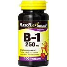 Mason Vitamins B-1 250Mg Thiamine Tablets, 100-Count Bottle