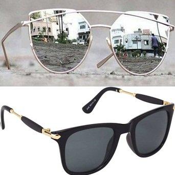Sheomy Aviator Unisex Combo Of 3 Sunglasses(3In1-105_7)