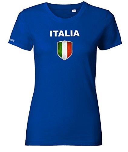 WM 2018 - Italia Wappen - Italien - Royalblau - WOMEN T-SHIRT by Jayess Gr. M (Wm Italien Italia)