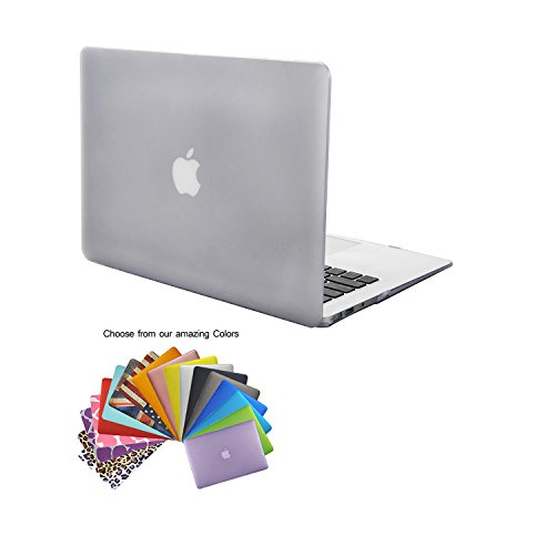 Funda MacBook Air 13,TECOOL® Ultra Slim Cubierta de Plástico Duro Case Cascara para MacBook Air 13' modelo: A1466 y A1369(Clara)