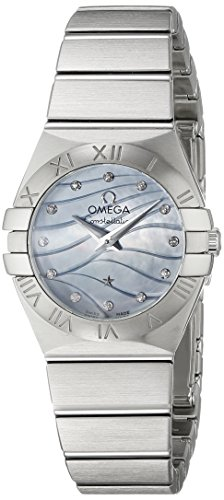 OMEGA WOMEN'S 24MM STEEL BRACELET SWISS QUARTZ WATCH 123.10.24.60.57.001