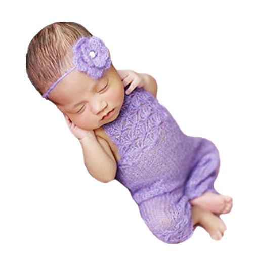 Neugeborenen Babyfotografie Props Kostüm Jungen Mädchen Baby Fotografieren Fotoshooting Set Requisiten Accessoire Kopfschmuck Strampler (Kostüm Kopfschmuck Löwe)